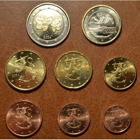 Set of 8 eurocoins Finland 2004 (UNC)