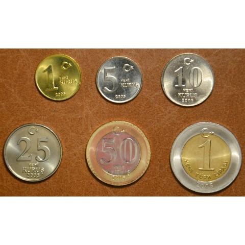 Turkey 6 coins 2005 (UNC)