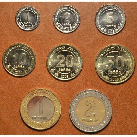 Turkmenistan 8 coins 2009-2010 (UNC)