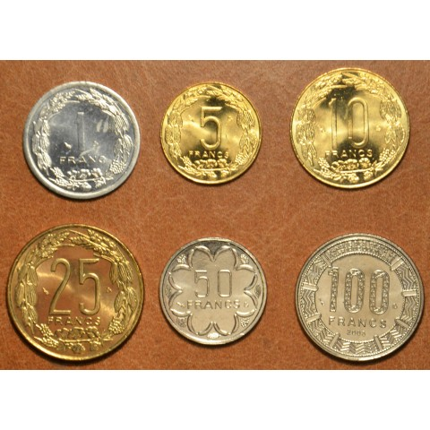 Central African franc 6 coins 2003 (UNC)