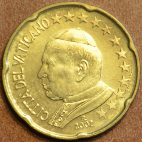 20 cent Vatican His Holiness Pope John Paul II 2002 (BU)