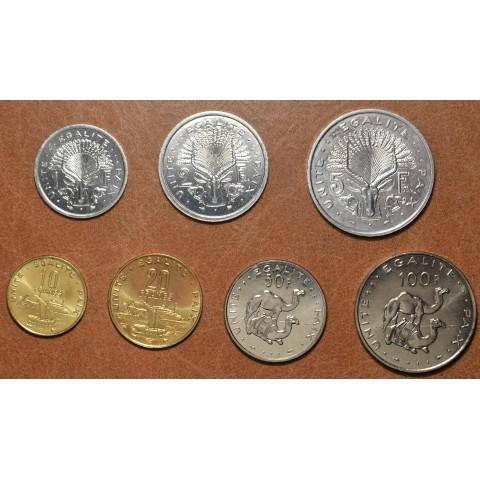 Djibouti 7 coins 1977-1999 (UNC)