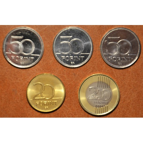 Hungary 5 commemorative coins (UNC)