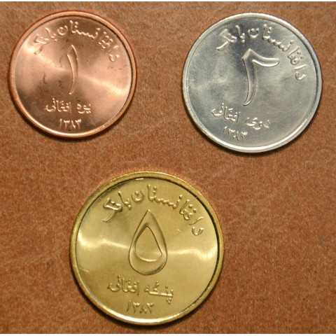 Afghanistan 3 coins 2004-2005 (UNC)