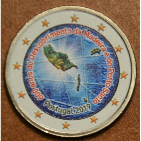 2 Euro Portugal 2019 - 600 years of island Madeira (colored UNC)