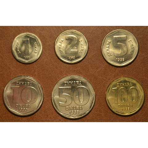 Yugoslavia 6 coins 1993 (UNC)