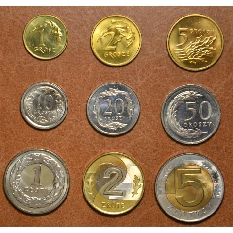 Poland 9 coins 1990-1994 (UNC)