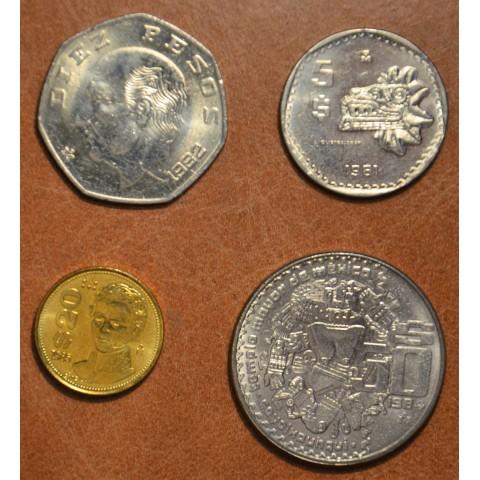 Mexico 4 coins 1981-1985 (UNC)