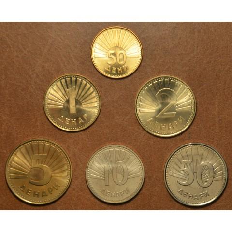 North Macedonia 6 coins 1993-2018 (UNC)