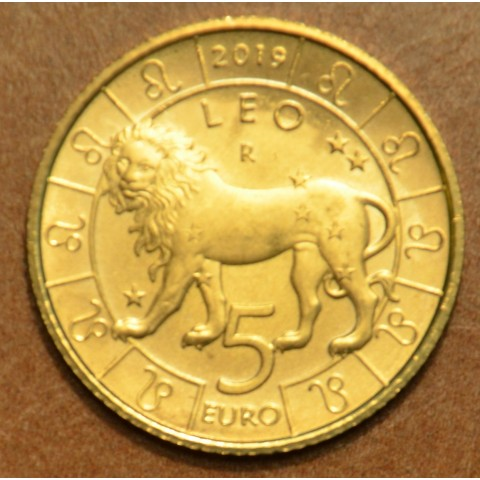 5 Euro San Marino 2019 Zodiac: Leon (UNC)