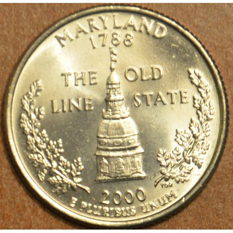 "25 cent USA ""D"" 2000 Maryland (UNC)"