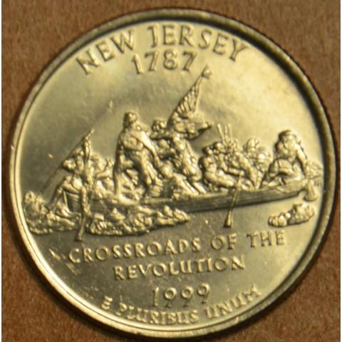 """25 cent USA 1999 New Jersey """"D"""" (UNC)"""