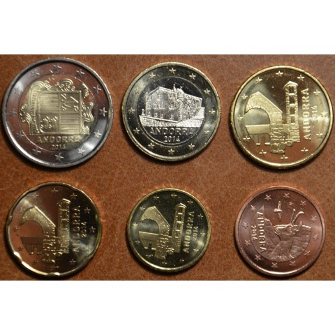 Set of 6 Euro coins Andorra 2014 (UNC)