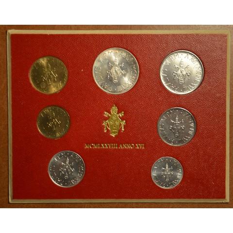 Vatican 7 coins 1978 (BU)