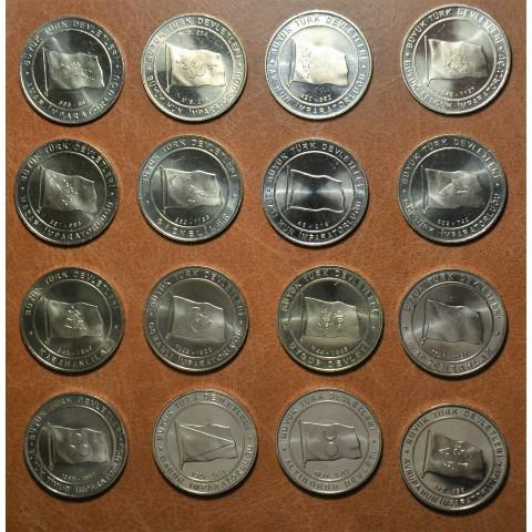 Turkey 16x 1 Lira 2015 (UNC)