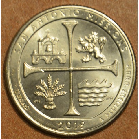 """25 cent USA """"S"""" 2019 War in the Pacific (UNC)"""