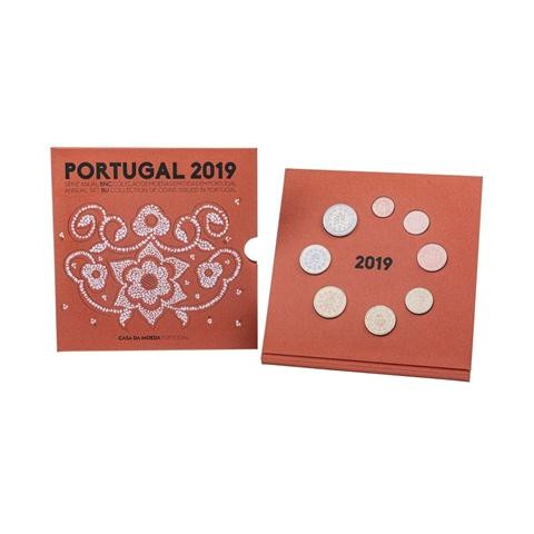 Set of 8 coins Portugal 2019 (BU)