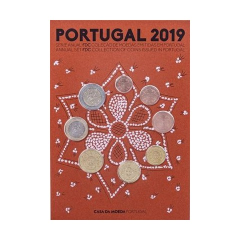 Set of 8 coins Portugal 2019 (UNC)