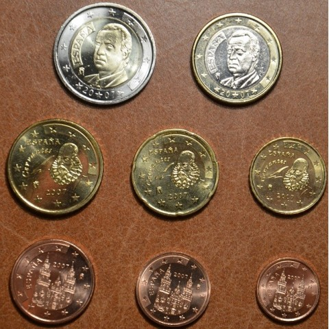 Set of 8 coins Spain 2007 (UNC)