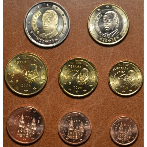 Set of 8 coins Spain 2008 (UNC)
