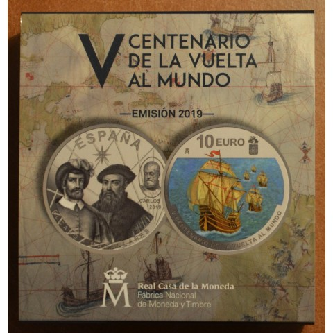 10 Euro Spain 2019 - 500 years of circumnavigation (Proof)