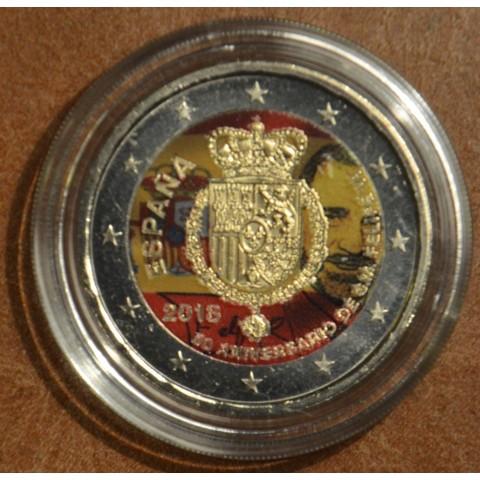 2 Euro Spain 2018 - Felipe VI. v III. (colored UNC)