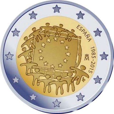 2 Euro Spain 2015 - 30 years of European flag (UNC)