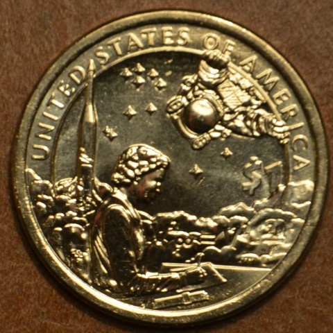 """1 dollar USA """"P"""" 2019 American Indians In The Space Program (UNC)"""
