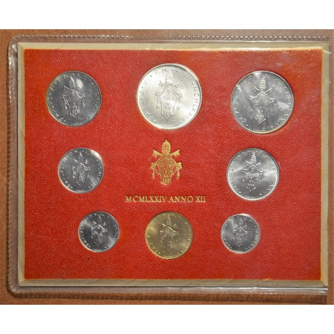 Vatican 8 coins 1974 (BU)
