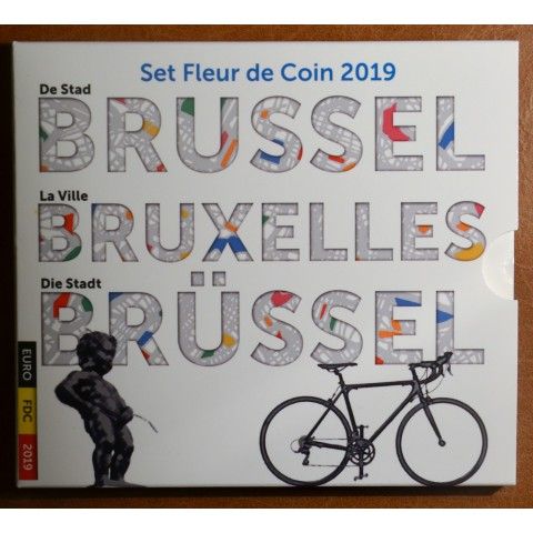 Belgium 2019 official set with 2x 2,50 Euro coins (BU)