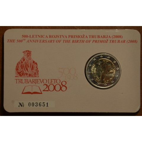 2 Euro Slovenia 2008 - 500th anniversary of Primož Trubar's birth (BU)