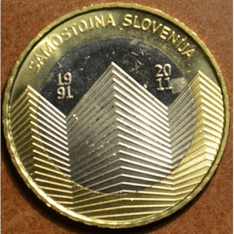 Commemorative coin 3 Euro Slovenia 2011 (UNC)