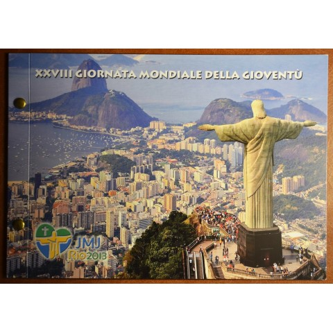 2 Euro Vatican 2013 - 28. World Youth day - Rio de Janeiro (Numisbrief)
