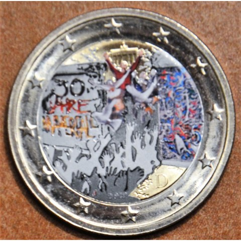 "2 Euro Germany ""J"" 2019 - 30th Anniversary of the Fall of the Berlin Wall (colored UNC)"