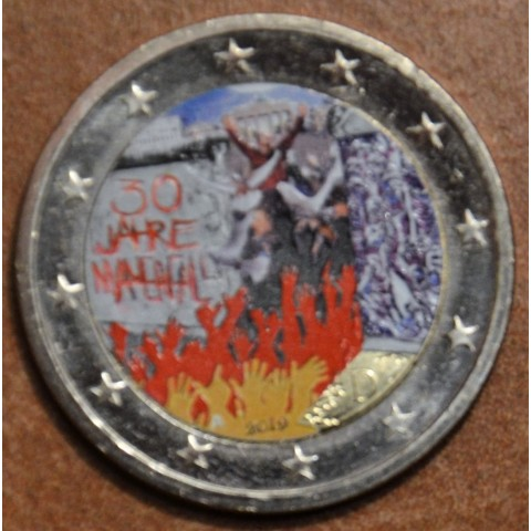 """2 Euro Germany """"A"""" 2019 - 30th Anniversary of the Fall of the Berlin Wall (colored UNC)"""