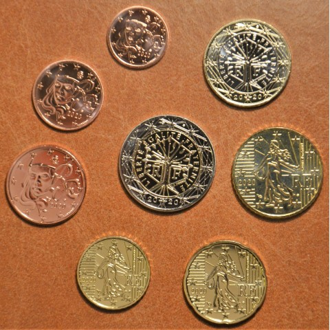 Set of 8 eurocoins France 2020 (UNC)