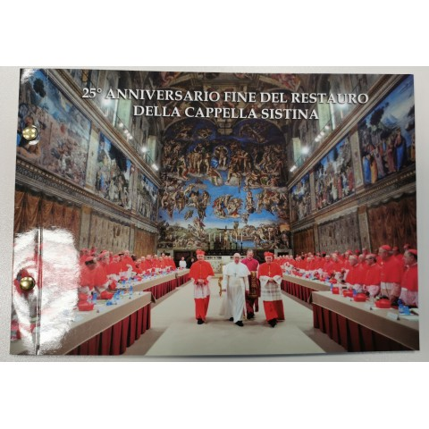 2 Euro Vatican 2019 - Sistine Chapel numisbrief (BU)