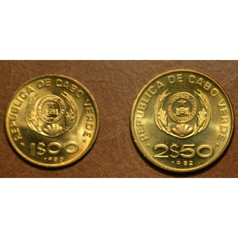 Cape verde 1 and 2,5 escudos 1980 (UNC)
