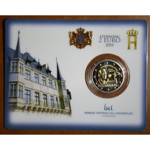 "2 Euro Luxembourg 2019 with mintmark ""Leon"" - 100th anniversary of universal right to vote (UNC)"