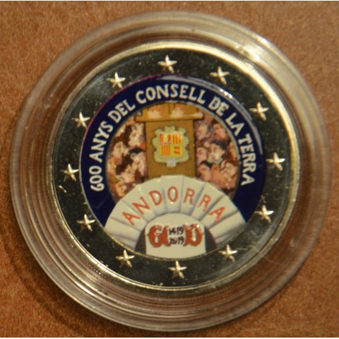 2 Euro Andorra 2019 - 600 years of the Council of the Land (colored UNC)