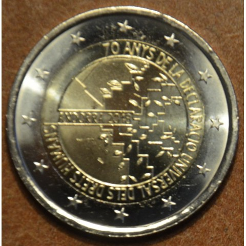 2 Euro Andorra 2018 - 70 years of the Universal Declaration of Human Rights (UNC)