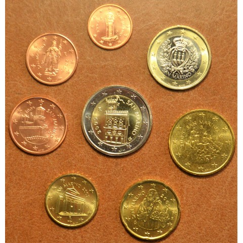 Set of 8 eurocoins San Marino 2005 (UNC)