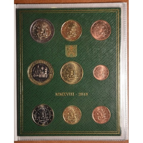 Vatican 2018 set with 5 Euro coin  (BU)