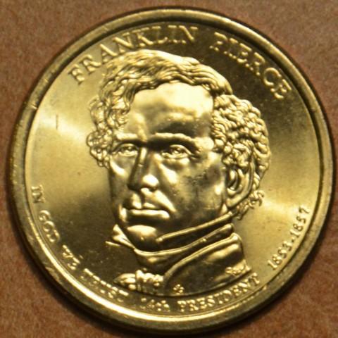 "1 dollar USA ""D"" 2010 Franklin Pierce (UNC)"