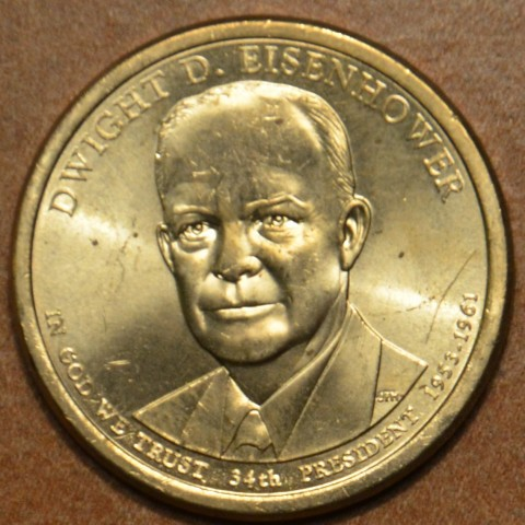 """1 dollar USA """"P"""" 2015 Dwight D. Eisenhower (UNC)"""