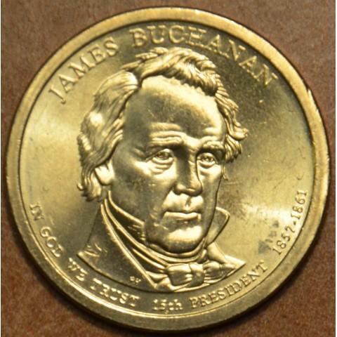 """1 dollar USA """"D"""" 2010 James Buchanan (UNC)"""