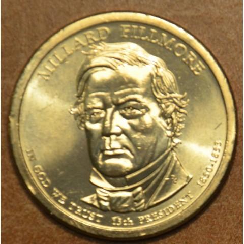 """1 dollar USA """"D"""" 2010 Millard Fillmore (UNC)"""
