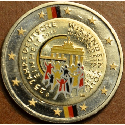 2 Euro Germany 2015 - 25 years of reunification of Germany (colored UNC)