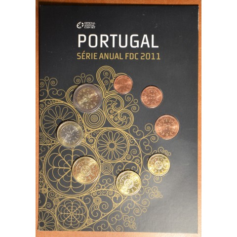 Set of 8 coins Portugal 2011 (BU)