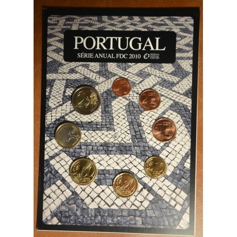 Set of 8 coins Portugal 2010 (BU)